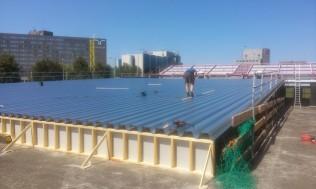 Plaatsen dakplaten